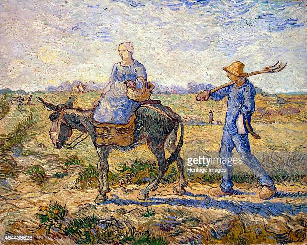 'Morning Going out to Work' 1890 Gogh Vincent van Found in the collection of the State Hermitage St Petersburg