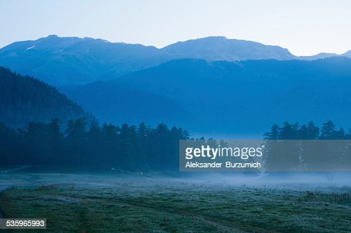 Morning in the Mountains : Stock Photo