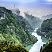Morning in Wuyang river gorge