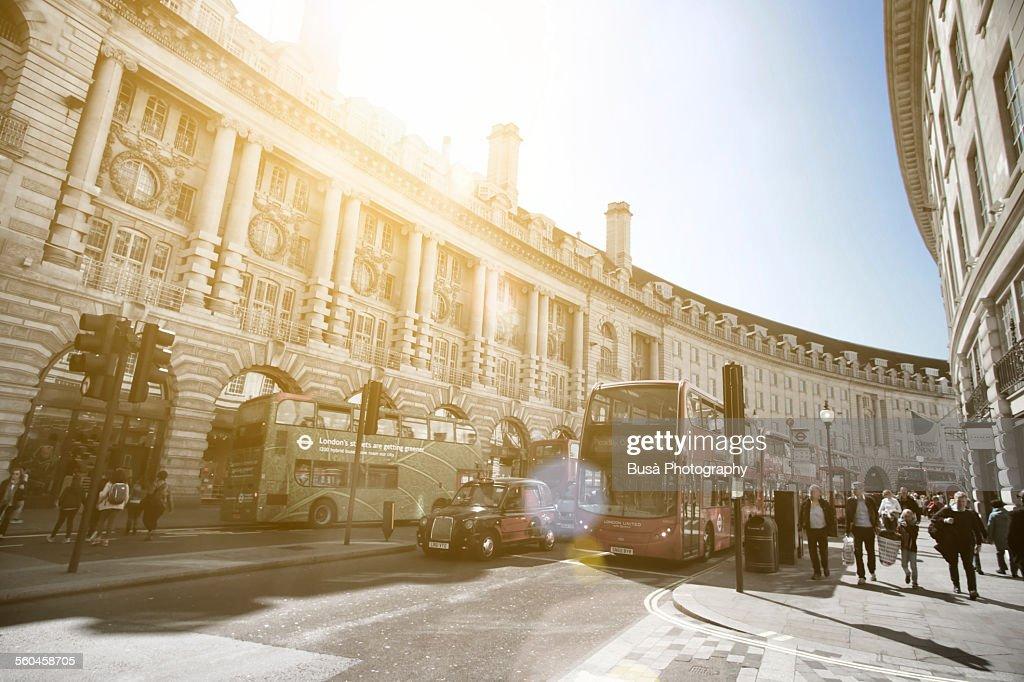 Morning light in Regent Street, London
