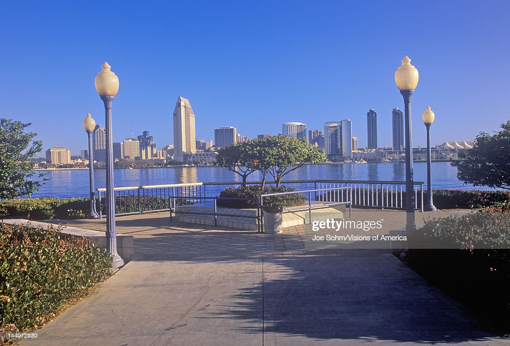 Morning light on the San Diego Bay view from Coronado San Diego California