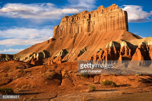 Morning Light On Wild Horse Butte In Goblin Valley State Park Part Of The San