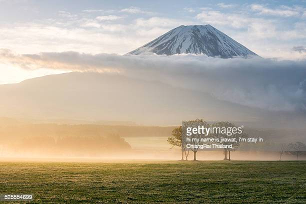Morning light with Mt.fuji