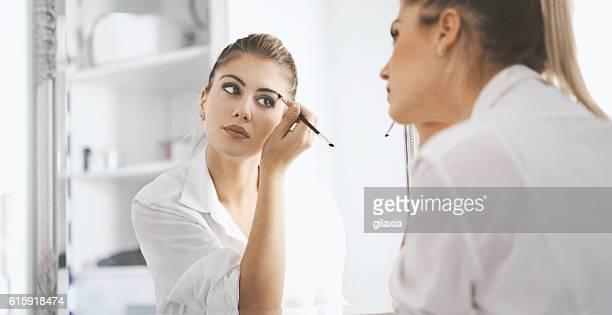 Morning makeup.