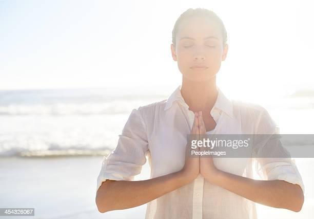 Morning meditating