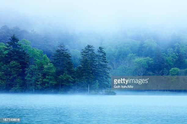 Morning mist at lake Onneto, Hokkaido