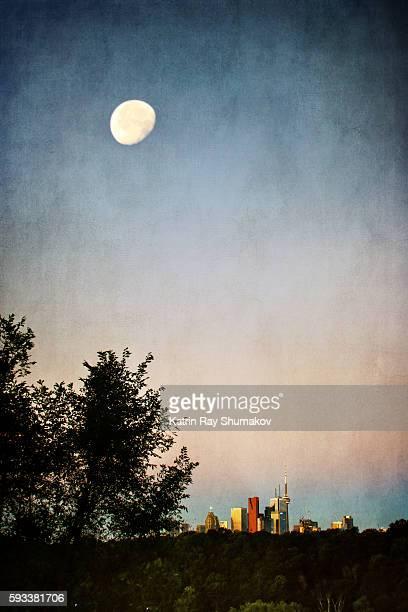 Morning Moon Above Toronto