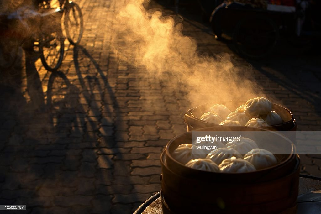 Morning of China town : Stock Photo