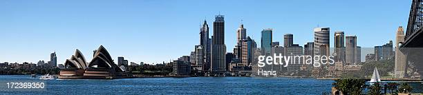 Morning panorama of Sydney and its Opera House