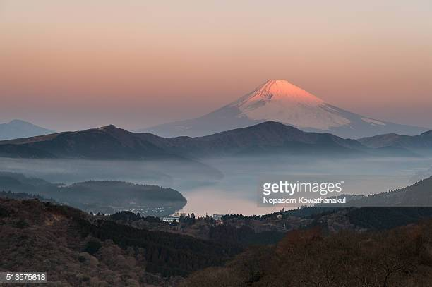Morning reflection  of Mt. Fuji
