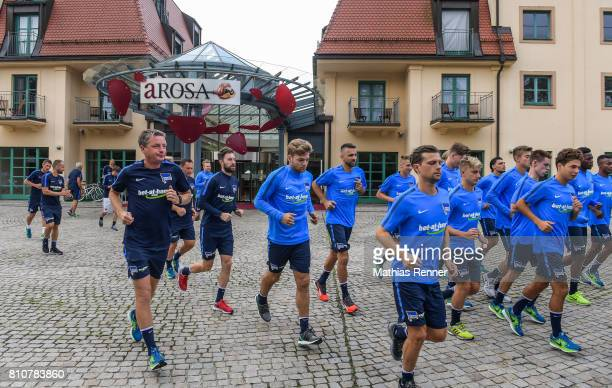 morning run during the first day of the training camp of Hertha BSC on July 8 2017 in Bad Saarow Germany