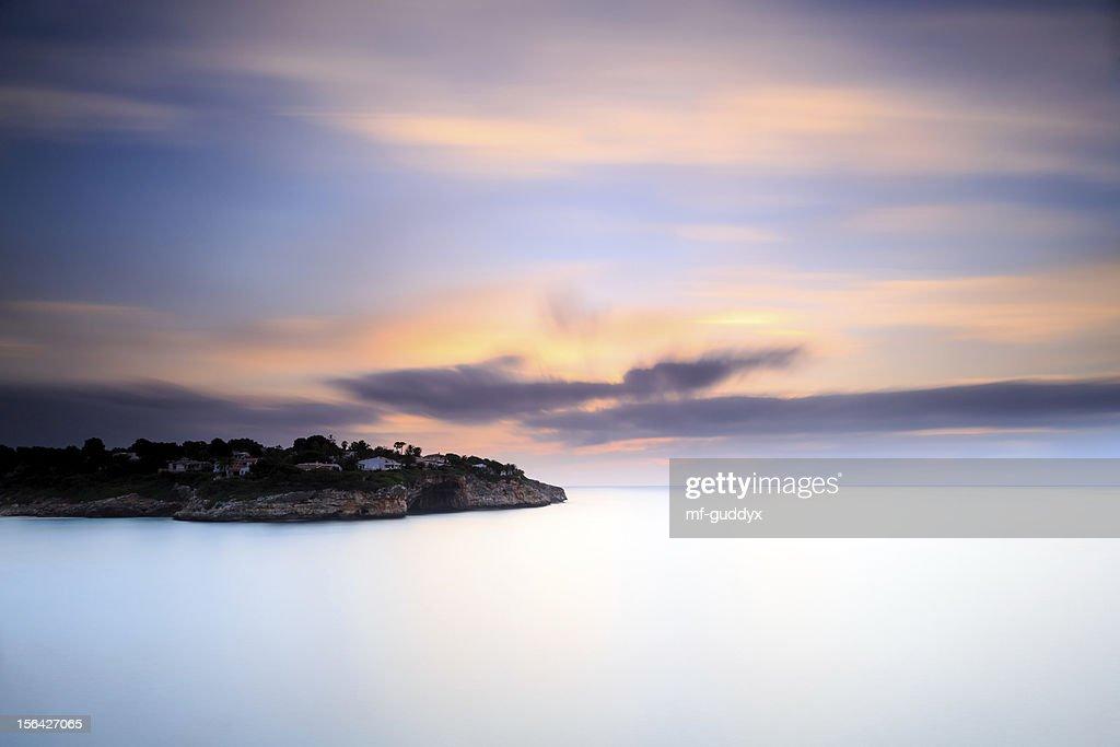 Morning scene - Cala Romantica, Mallorca : Stock Photo