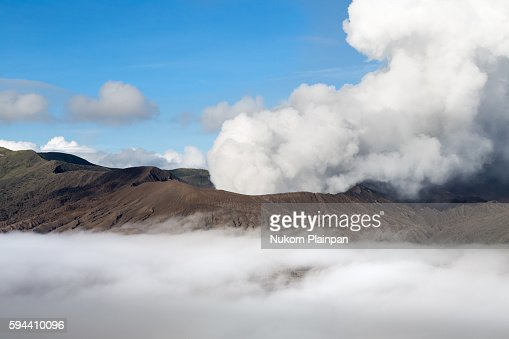 Morning scene of Mt. Bromo with a sea of mist, East Java, Indonesia