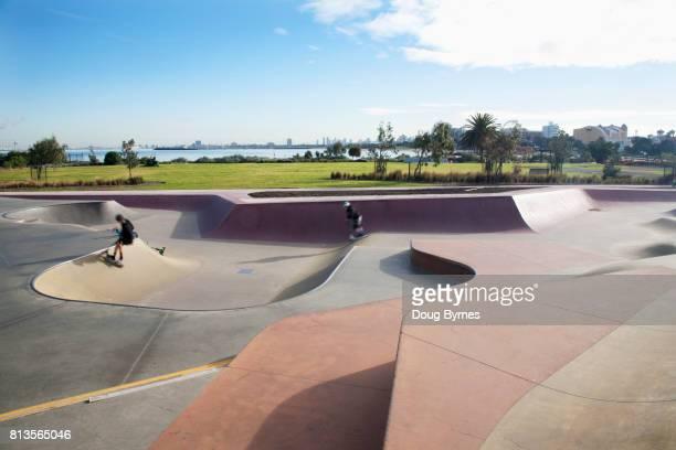 Morning skate in St Kilda