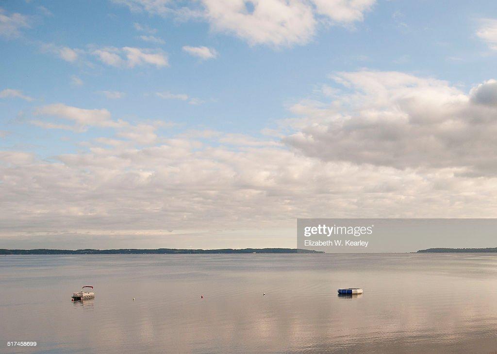 Morning sky over Lake Michigan