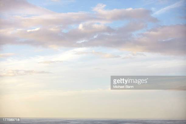 morning sky over sea with cloud
