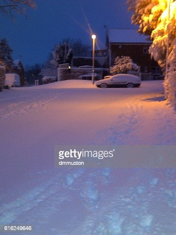 Morning Snow in Britain 2012 : Foto de stock