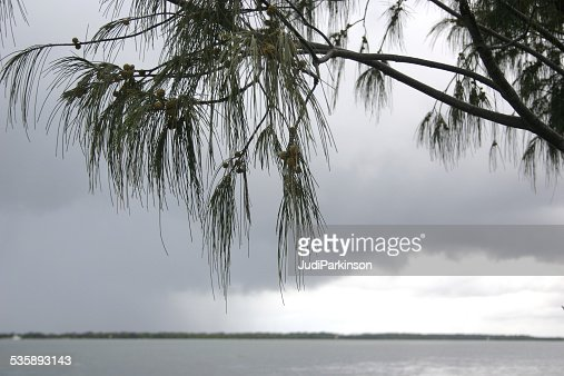 Morning Storm Gathering over Beach : Stock Photo