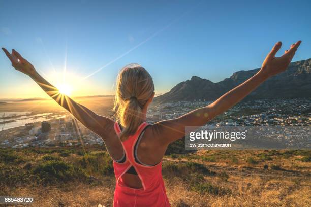 Morning stretching, Cape Town, South Africa