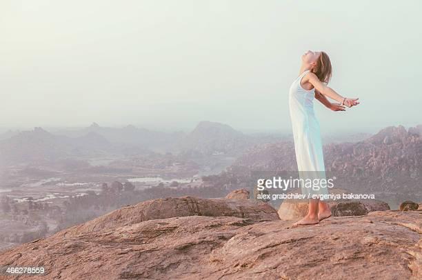 morning sun salutation, India