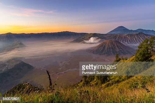 Morning sunrise at Bromo mountain