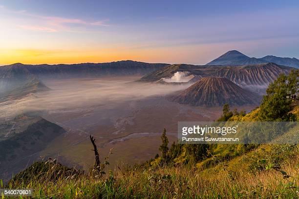 Morning sunrise at Bromo mountain