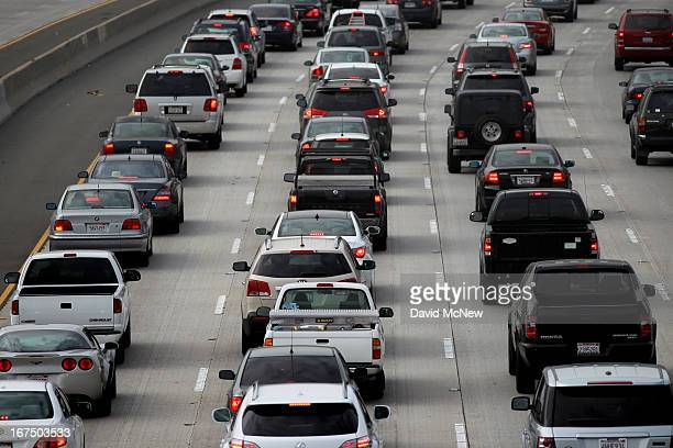 Morning traffic fills the SR2 freeway on April 25 2013 in Los Angeles California The nation's second largest city Los Angeles has again been ranked...