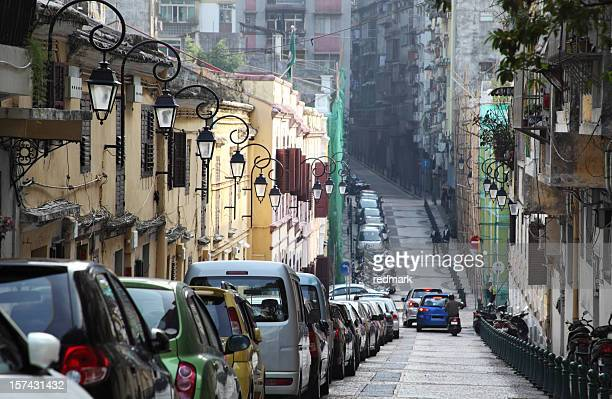 Morning traffic in Macau