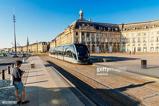 Morning tram commute, Bourse, Bordeaux