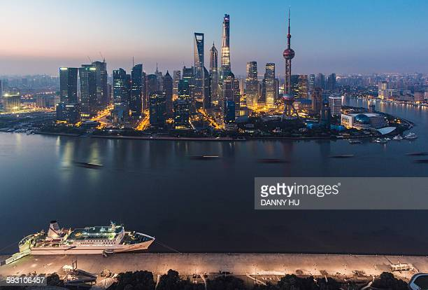 Morning twilight of Shanghai