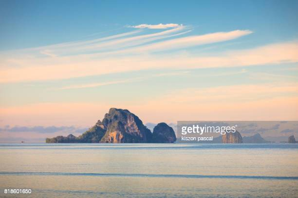 Morning view from Ao Nang beach in Krabi ( Thailand , Asia )