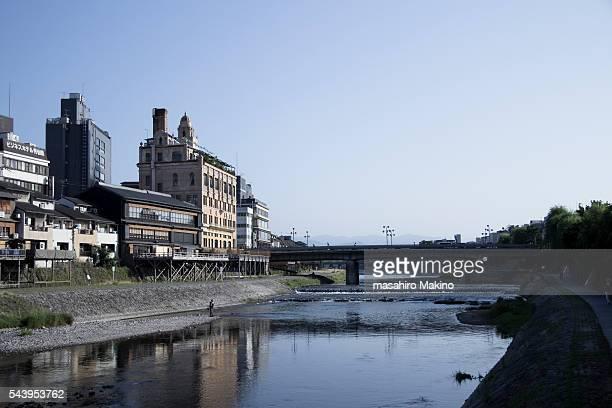 Morning View of Kamo River, Kyoto City