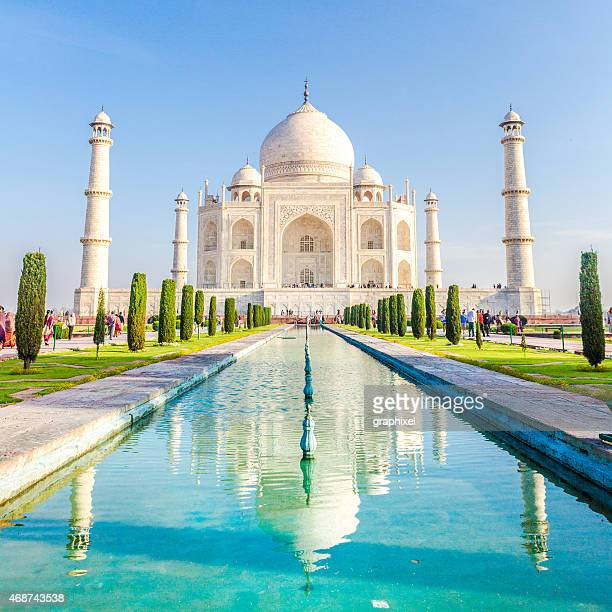 Morgen Blick auf das Taj Mahal, Agra, Indien