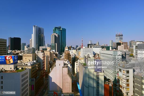 Morning view of Tokyo cityscape