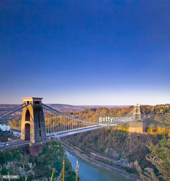 Morning view on Clifton Suspension Bridge