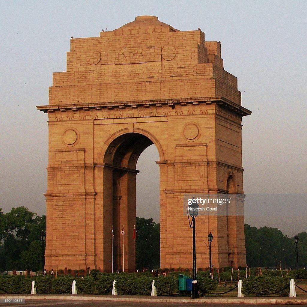 Morning walk at India Gate : Stock Photo