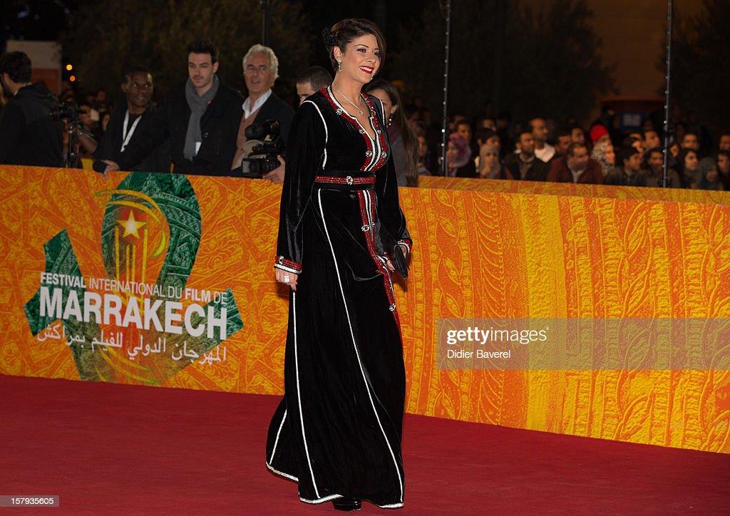 Moroccan actress Leila Hadioui attends the 12th International Marrakech Film Festival on December 7, 2012 in Marrakech, Morocco.
