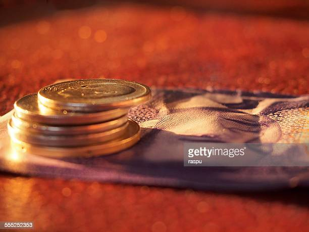 Moroccan coins and banknote, Marrakech