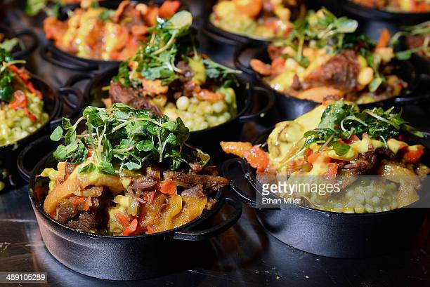 Moroccan lamb tagine is served at the Bacchanal Buffet booth at Vegas Uncork'd by Bon Appetit's Grand Tasting event at Caesars Palace on May 9 2014...