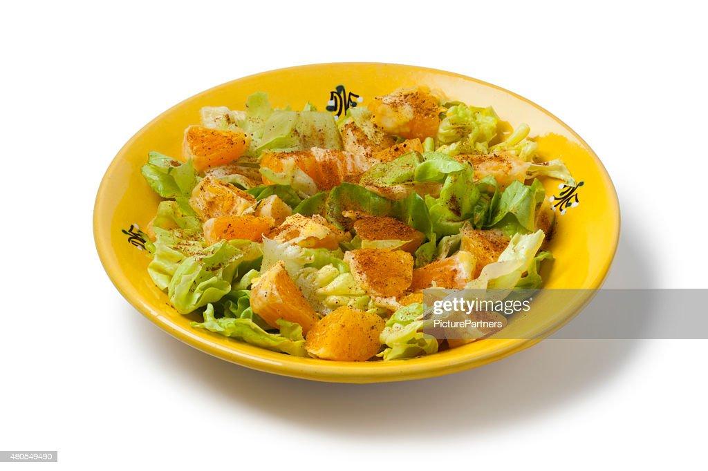 Marroquino Salada de laranja : Foto de stock