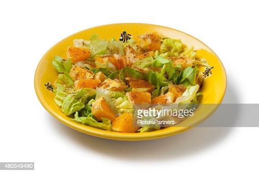 Moroccan orange salad : Stock Photo