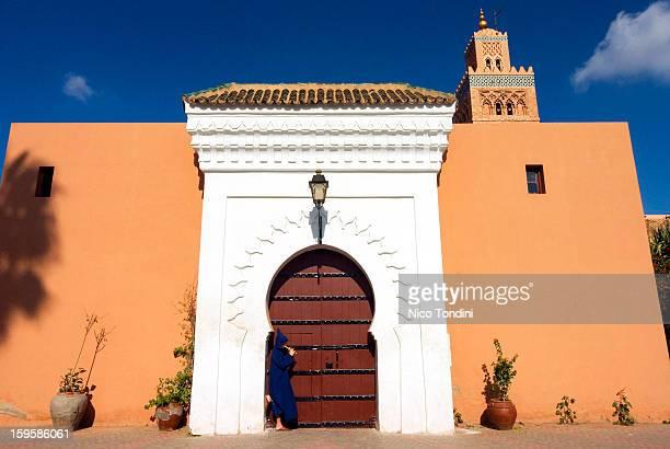 Moroccan playing a flute, Koutoubia, Marrakech