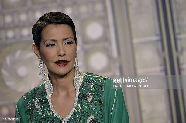 Moroccan Princess Lalla Meryem poses at the Arab World Institute on February 1 2015 in Paris AFP PHOTO / LIONEL BONAVENTURE