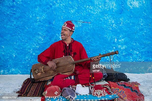 Marroquino Rabat Músico de Rua