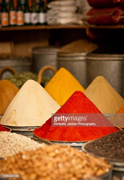 Moroccan spices at souk in Fes