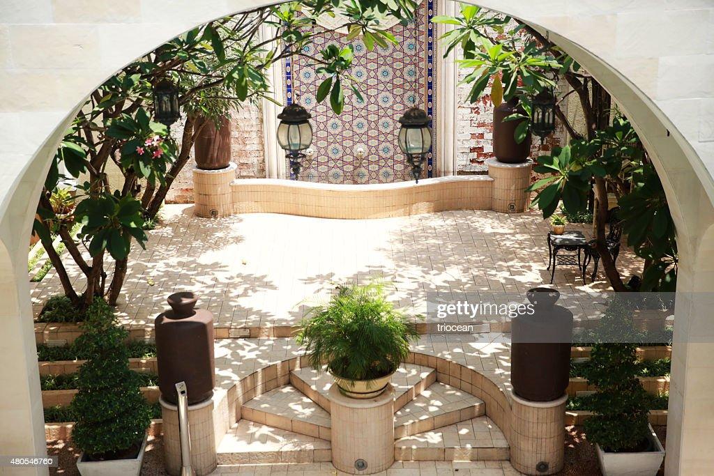 Patios estilo marroquí : Foto de stock