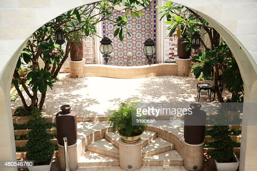 Moroccan style courtyards : Stock Photo