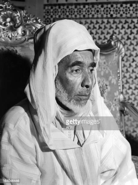 Moroccan Sultan Sidi Mohammed ibn Arafa is photographed in Meknes on September 2 1953 Mohammed ibn Arafa was imposed by the French colonial...