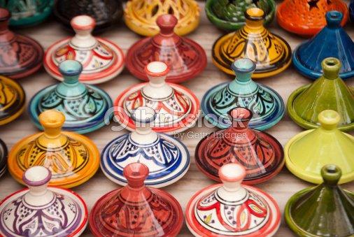 marokkanische tajines in marrakesch stock foto thinkstock. Black Bedroom Furniture Sets. Home Design Ideas
