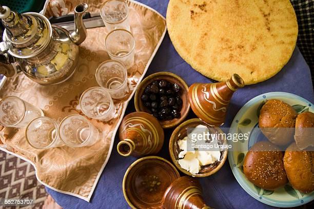 Moroccan tea and food